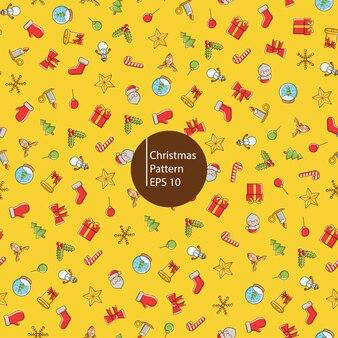 Kerst iconen naadloze patroon