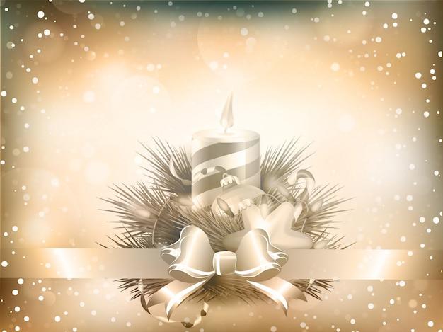 Kerst illustratie met kaarsen.