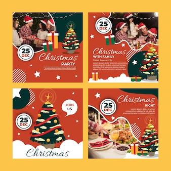 Kerst instagram-berichten instellen