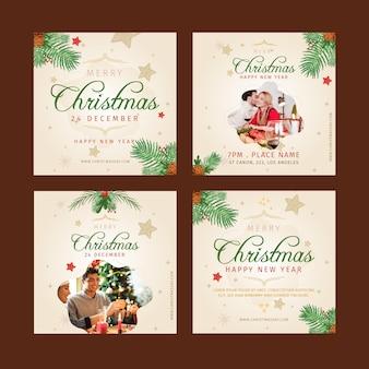 Kerst instagram posts collectie