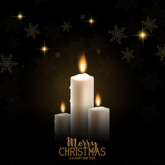 Kerst kaars achtergrond