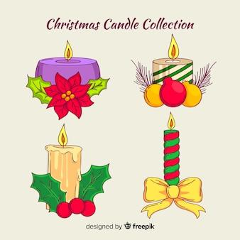 Kerst kaarsen met ornamenten collectie