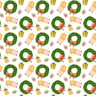 Kerst kabouters naadloze patroon achtergrond