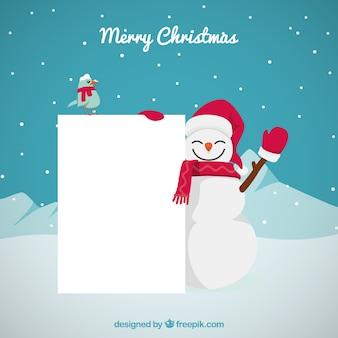 Kerst karakter met brief achtergrond