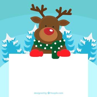 Kerst karakter met letter