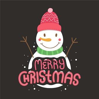 Kerst karakter met letters