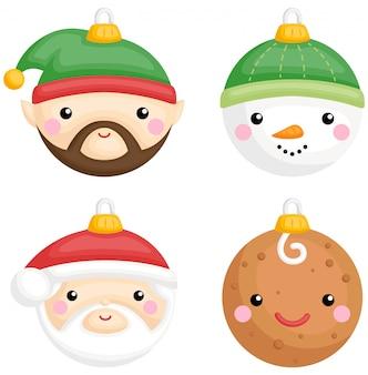 Kerst karakterballen