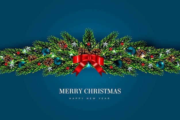 Kerst klatergoud achtergrond