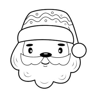Kerst kleurboek of pagina. kerst santa claus zwart-wit vectorillustratie