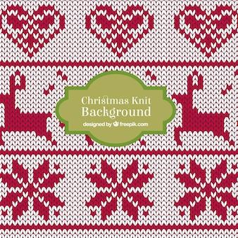 Kerst knit deer achtergrond