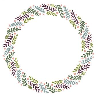 Kerst krans ontwerp vector.