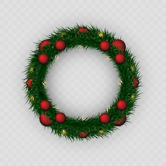 Kerst krans. png krans. guirlande. kerstmis. viering. geruite achtergrond.