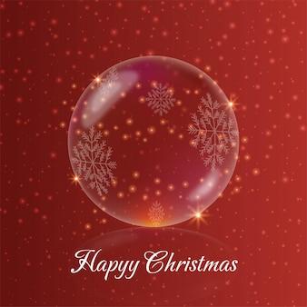 Kerst kristallen bol