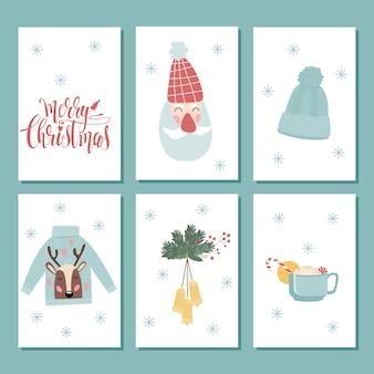 Kerst label clipart. kerstwinkel tag set. kerst doodle handgemaakt