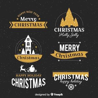 Kerst label collectie