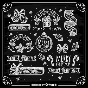 Kerst labels-collectie