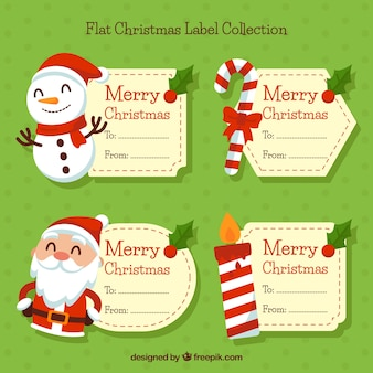 Kerst labels instellen