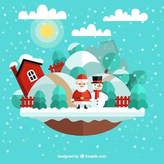 Kerst landschap