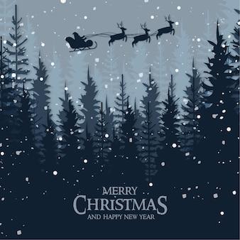 Kerst landschapskaart