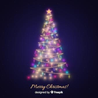 Kerst lichte boom