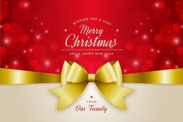 Kerst lint decoratieve achtergrond