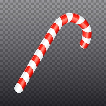 Kerst lollypop nieuwjaar gestreepte snoep geïsoleerd op transparante achtergrond decoratie element