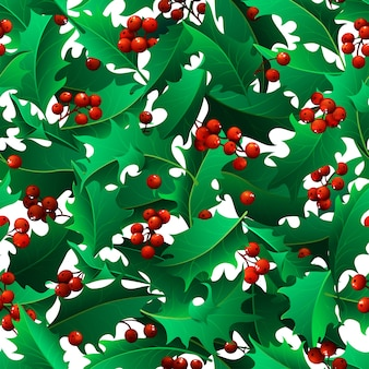 Kerst maretak naadloze patroon