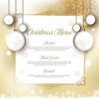 Kerst menu ontwerp