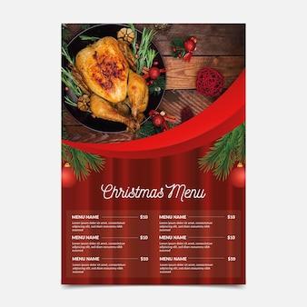 Kerst menusjabloon