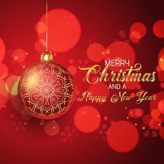Kerst met hangende kerstbal