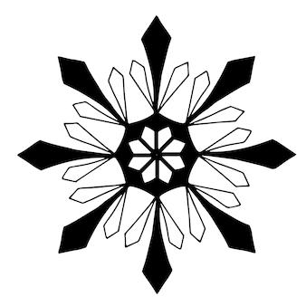 Kerst mooie handgetekende fantasie sneeuwvlok clip art vectorelement