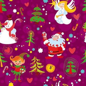 Kerst naadloos behangpatroon