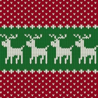 Kerst naadloos gebreide patroon