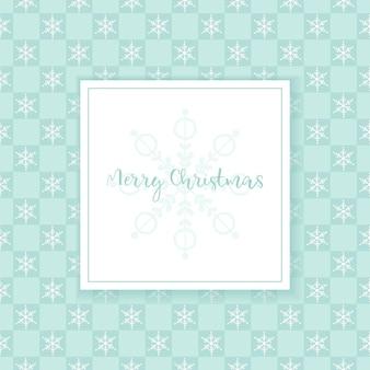 Kerst naadloos patroon met sneeuwvlokken in vierkanten wenskaart op abstracte achtergrond vector