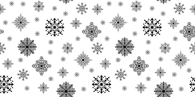 Kerst naadloos patroon met verspreide sneeuwvlokken. vector illustratie