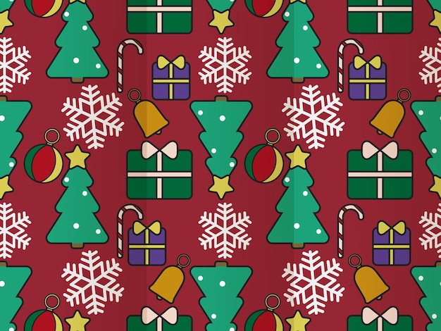 Kerst naadloos patroon plat ontwerp