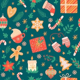 Kerst naadloos patroon