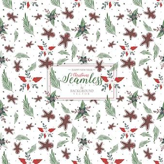 Kerst naadloos patroonontwerp. lege ruimte voor tekstinvoer.