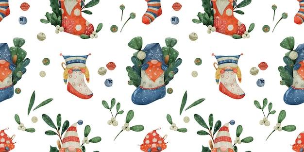 Kerst naadloze bloemmotief