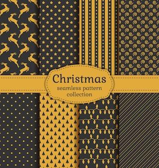 Kerst naadloze patronen instellen