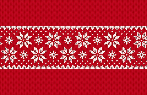 Kerst naadloze patroon. brei rode textuur. vector illustratie.