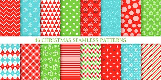 Kerst naadloze patroon collectie