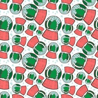 Kerst naadloze patroon. hand getrokken doodle schets