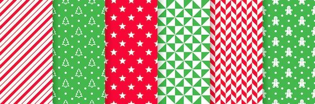 Kerst naadloze patroon. illustratie. feestelijk inpakpapier.