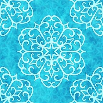 Kerst naadloze patroon met krullende sneeuwvlokken