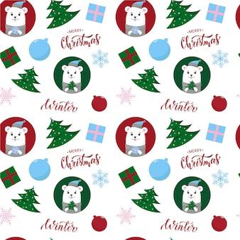 Kerst naadloze patroon ontwerp