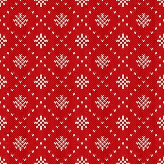 Kerst naadloze patroon op de wol gebreide textuur
