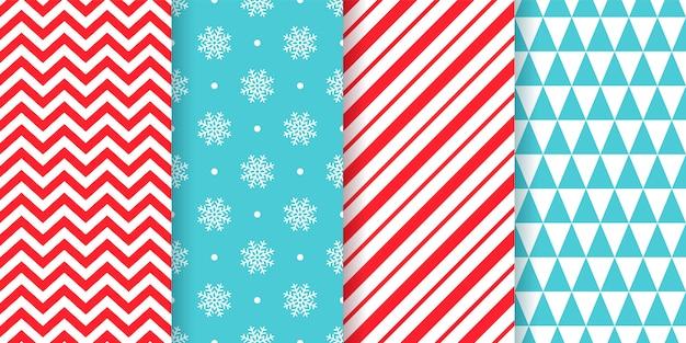 Kerst naadloze patroon set