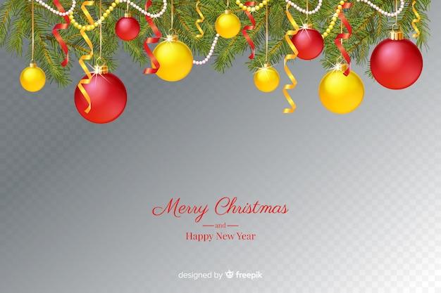 Kerst & nieuwjaar transparante achtergrond