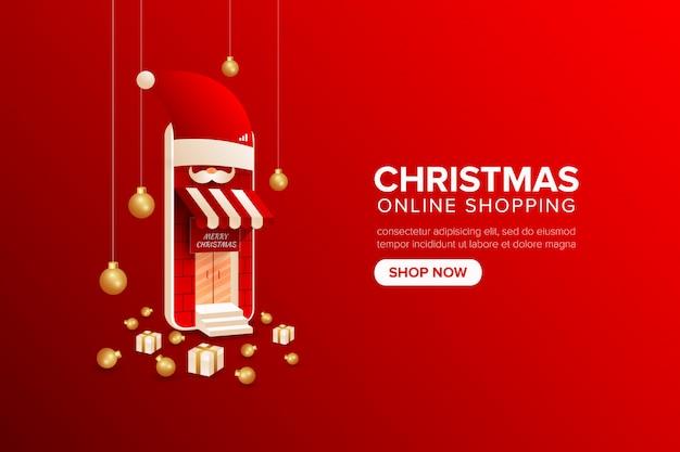 Kerst online winkelen op mobiele applicatie of web